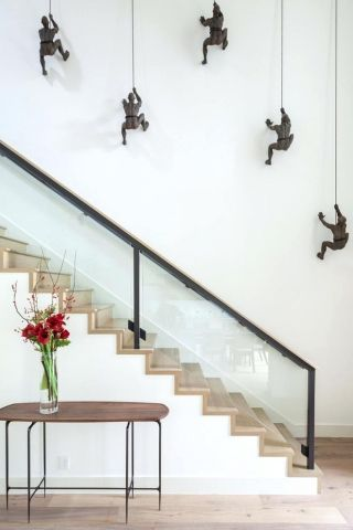 30 Cool Wall Decoration Ideas Home Decorating Ideas Staircase   Wall Painting Designs For Staircase   Simple   Decorative   Two Tone   Modern   Hall Nature
