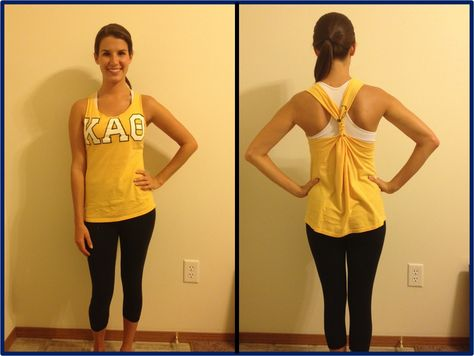 Super Easy No-Sew T-shirt Tank! Much better tutorial than others