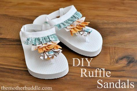 51367c68038e82 Tutorial ~ Diy Ruffle (flip flops) Sandals