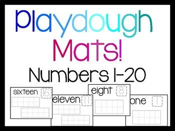 Build The Numerals Build The Number Word And Practice One To One With These Simple Playdough Mats Easy To Use Print A Playdough Playdough Mats Number Words