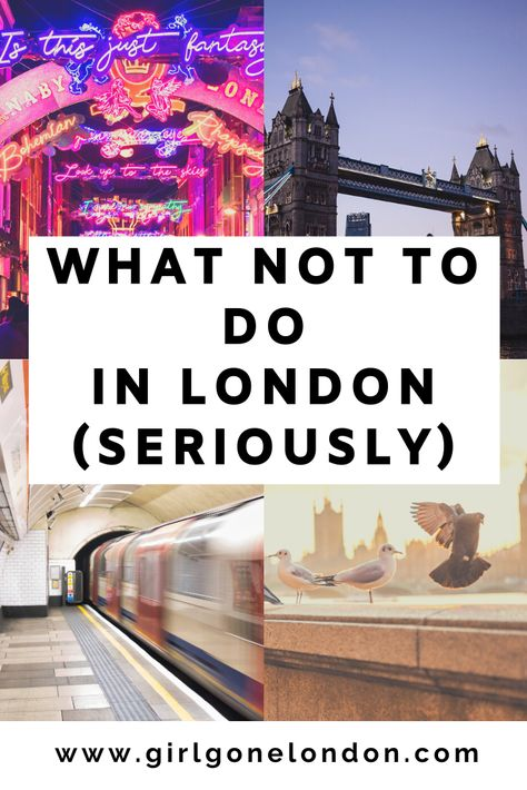 Check out this full guide to what not to do in London to make sure you make the most of your time overseas. From what restaurants to not eat at to which hotels not to stay at, this list of London travel mistakes will help keep you on the right track. Pubs In London, London Places, London Food, London Eye, Restaurants In London England, London Hotels, Day Trips From London, Things To Do In London, Buckingham Palace
