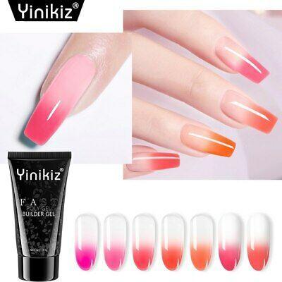 Yinikiz 30g Uv Nail Gel Acrylic Poly Gel Temperature Change Builder Nail Art Cute Acrylic Nails Gel Nails Uv Nails