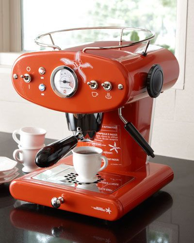 H loves espresso, I love cappuccino. This Illy Espresso Machine is just beautiful. Could we have the cappucino feature in, please?