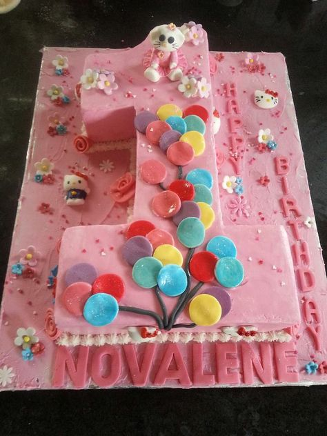 Nr 1 cake - Hello Kitty Themed  cake