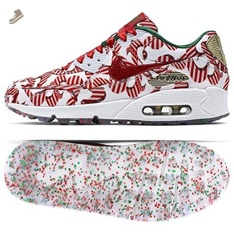 6869748188 Nike Women's Wmns Air Max 90 QS, CHRISTMAS PACK-WHITE/UNIVERSITY RED-METALLIC  GOLD, 7 US - Nike sneakers for women (*Amazon Partner-Link)