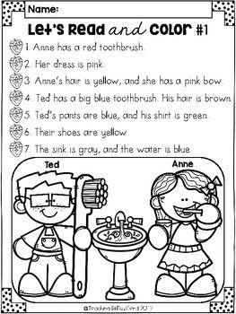 February Reading Comprehension Activities Reading Comprehension Reading Comprehension Activities Comprehension Activities Read and color comprehension worksheets