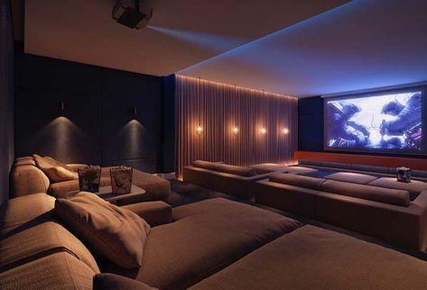Cinema Em Casa Com Chaise Longue Casa Chaise Cinema Em Longue Haus Innenarchitektur Luxurioses Wohnen Haus Design