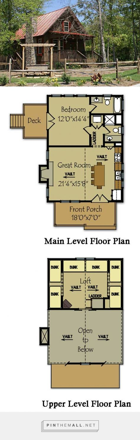 Small Cabin Plan with loft