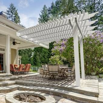 11 5 Ft W X 13 5 Ft W Solid Wood Pergola Today Pin In 2020 Outdoor Pergola Modern Pergola Wood Pergola