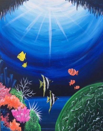 42 Ideas Painting Art Sea Artworks Sea Artwork Under The Sea Drawings Sea Drawing