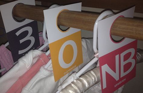 Nursery Organization: DIY Baby Closet Dividers {Free Printable}