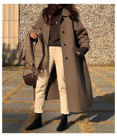 korean winter outfits coats style fashion