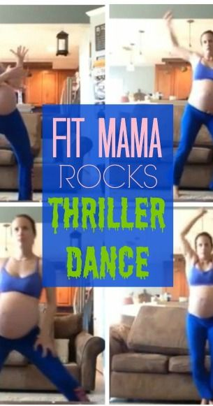 This woman is our hero. Seriously. Her Thriller moves -- at 40 weeks pregnant -- are perfect.