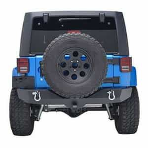 Eag Rear Bumper With 2 Hitch Receiver For Jeep Wrangler Jk