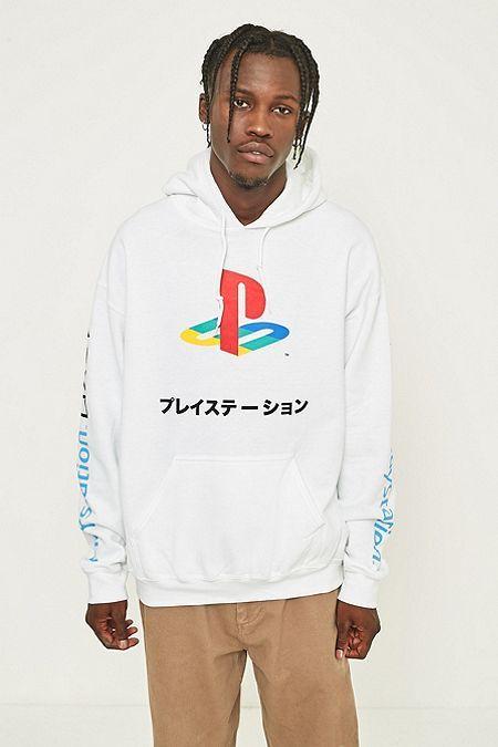 Urban Renewal Sweat à capuche Playstation blanc | Urban