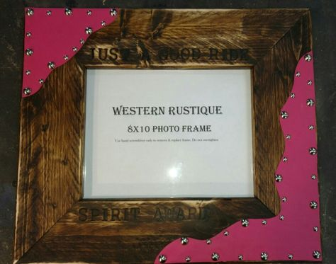 Customized AWARDS 8x10 Photo Frame with Hair on Hide Customized for your Assoc