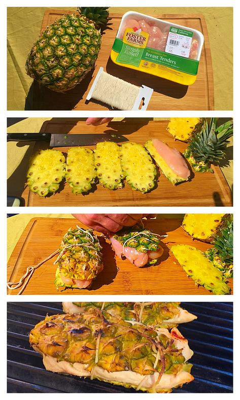 BBQ pineapple chicken hack!! The moistest chicken you'll ever cook! Easy to do and looks so cool too.