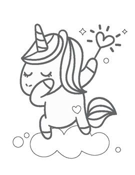 Unicorn Coloring Book Unicorn Coloring Pages Happy Doodles