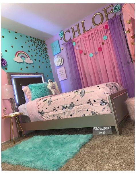 Girls Room Design, Kids Bedroom Designs, Room Ideas Bedroom, Baby Bedroom, Tween Girl Bedroom Ideas, Preteen Girls Rooms, Girls Bed Room Ideas, Girls Bedroom Pink, Girls Bedroom Decorating