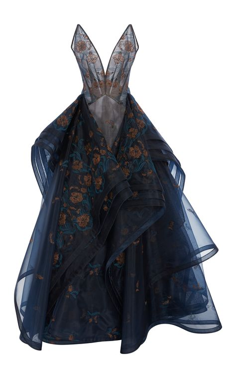 Zac Posen Embroidered Guipure Lace V-Neck Gown Pretty Outfits, Pretty Dresses, Lace Dresses, Dress Lace, Beautiful Gowns, Beautiful Outfits, Fantasy Gowns, Looks Cool, Dream Dress