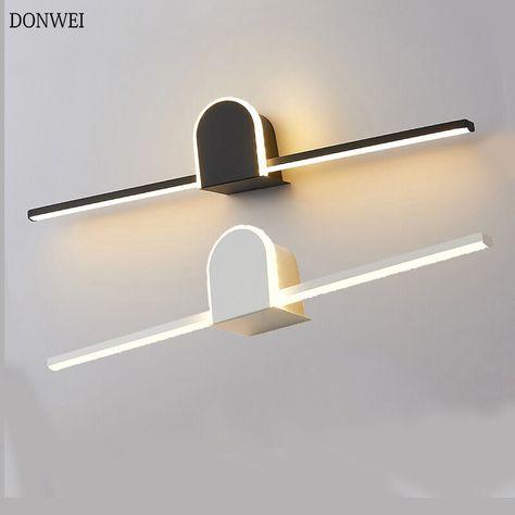 Modern Led Wall Lamp Bathroom Mirror Light Stainless Steel