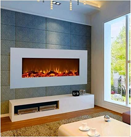 Wall Mounted Electric Fires Hung, Fake Fireplace Heater Wall