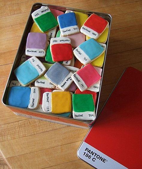 SO creative! pantone chip cookies from Kim Neill