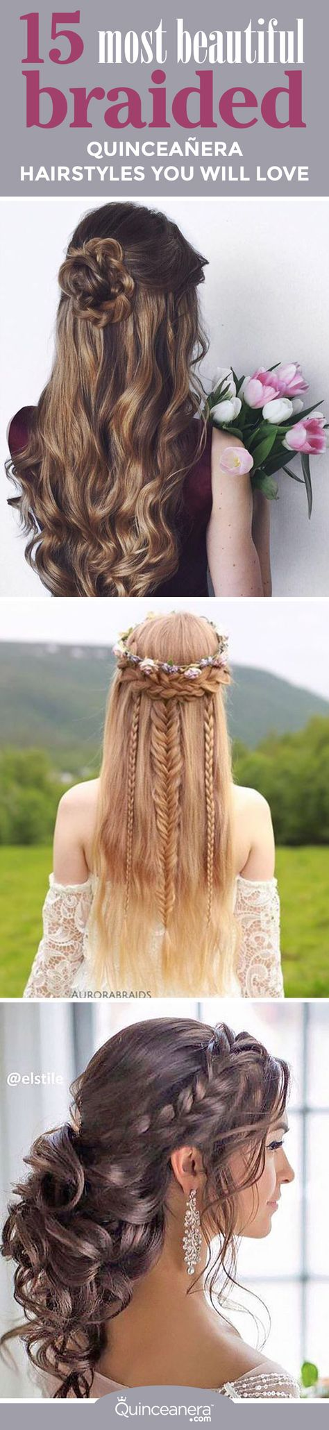 List of quinceaneras hairstyles for damas sweet 15 images