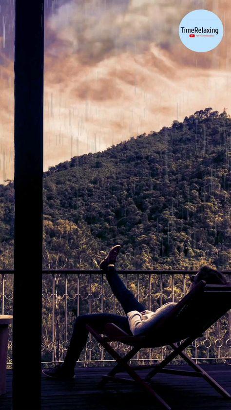 cozy balcony ambience rain for sleeping, relaxation