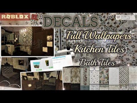(3070) Decals Codes Full Wallpapers  Kitchen Tiles Bath Tiles   Decals Ids   Bloxburg ROBLOX - YouTube