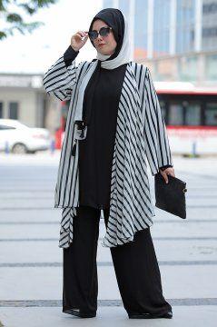 Tesettur Abiye Elbise Tunik Modelleri Nesrin Emniyetli Etnik Desen Somon Sifon 3 Lu Takim Mutevazi Kiyafetler Basortusu Modasi Elbise