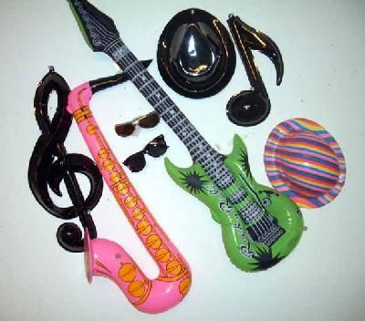 ROCK ON SKULL AND FLAMES BUTTONS ~ Birthday Party Supplies Favors Toy Music 10