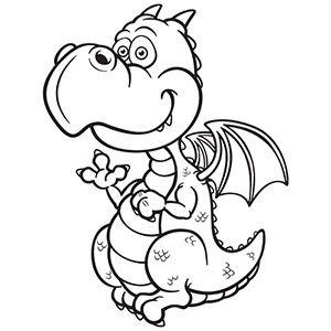 Cute Dragon Clipart Black And White Google Search