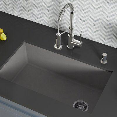Kraus Forteza 32 X 19 Undermount Kitchen Sink Finish Gray