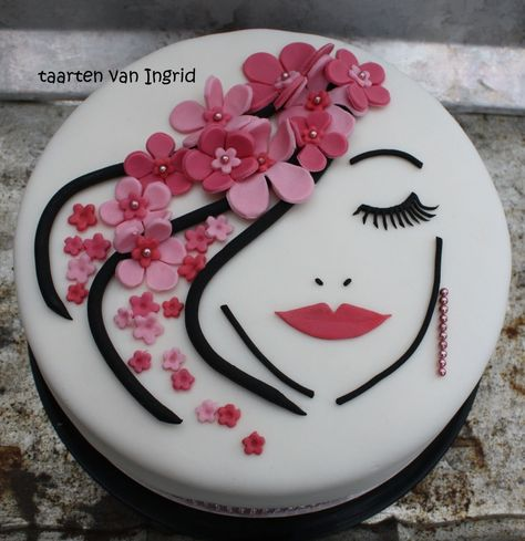 32+ Inspired Photo of Birthday Cakes For Ladies Birthday Cakes For Ladies Lady Taart Cake Art Cakes Pinterest Cake Cake Designs And  #BestBirthdayCakes