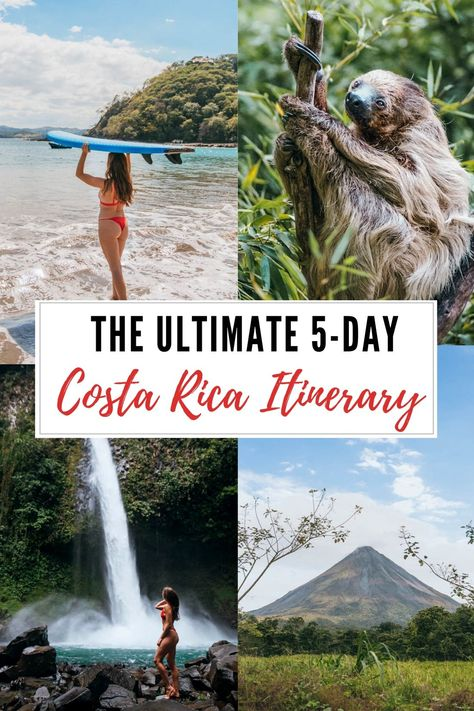 This Costa Rica Itinerary is perfect for those flying into Liberia who want to explore beautiful beaches, waterfalls, and volcanoes. Oh The Places You'll Go, Places To Travel, Places To Visit, Costa Rica Travel, Visiting Costa Rica, Bali Travel, Costa Rice, Costa Rica Holiday, Beautiful Beaches