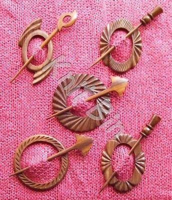 Sunset Turnings Wood Shawl Pin Set Great gift idea Handturned Wooden Shawl Pin