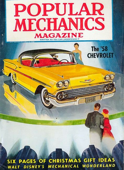 November 1957 Popular Mechanics cover, featuring the '58 Chevrolet.