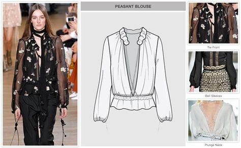 Women's key items F/W Tops: Peasant Blouse