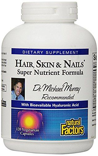 Natural Factors Womensense Hair Skin Nails Super Nutrient Formula 120 Vegetarian Capsules Https Bestprenatalvi Best Prenatal Vitamins Skin Brain Nutrition