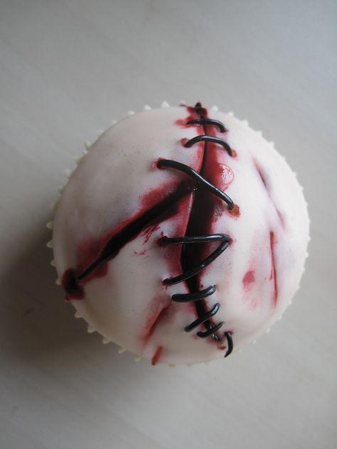 Halloween zombie cupcake