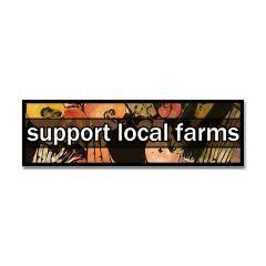 Support Local Farms Bumper Sticker (artistic)