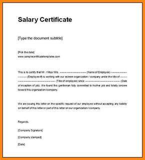 10 Salary Certificate Format In Word Nurse Resumed Nurse Resumed