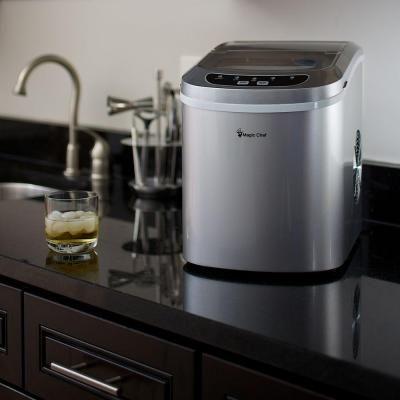 Portable Countertop Ice Maker Compact Outdoor Indoor Kitchen Bbq