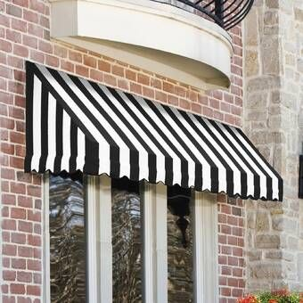 Santa Fe Woven Acrylic Standard Window Awning In 2020 Window Awnings Awning Patio Sun Shades
