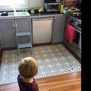 Kostenloser Versand Fliesen Muster Dekorative Pvc Vinyl Matte Etsy Flooring Kitchen Mat Vinyl Flooring Kitchen