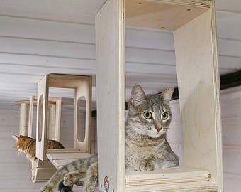 Cat House Cat Bed Wall Hanging Cat Bed Climbing Step Animal Platform Cat Gift Cat Shelves Cat Furniture Cat Shelf Animal Bed Cat Cave