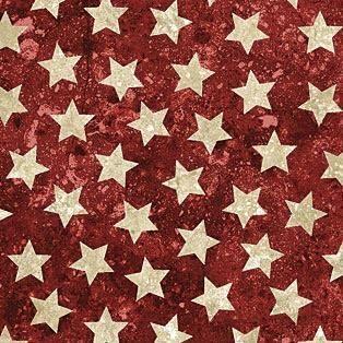 "Patriotic Eagle Primitive Cotton Fabric QT Stars Stripes Forever 24/""X44/"" Panel"