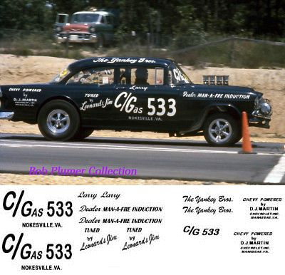 Decals 152927 The Yankey Bros 1955 Chevy Gasser In 1 25th Scale Decal Buy It Now Only 11 On Ebay Decals Yankey Chevy Gasser 1955 Chevy Chevy Decals