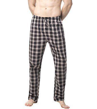 Pyjama Bottoms Sleepwear 100/% Cotton 2 Pack Mens Long Lounge Wear Pants Nightwear
